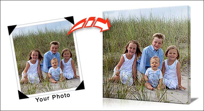 turn your favorite family photo into a canvas print want to print your